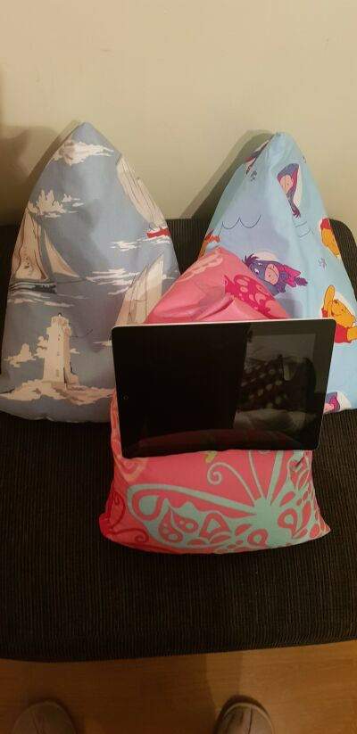 Ipad/kindle/phone bean bags
