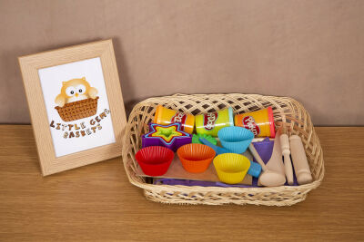 Messy Chef Basket / Playdough Basket