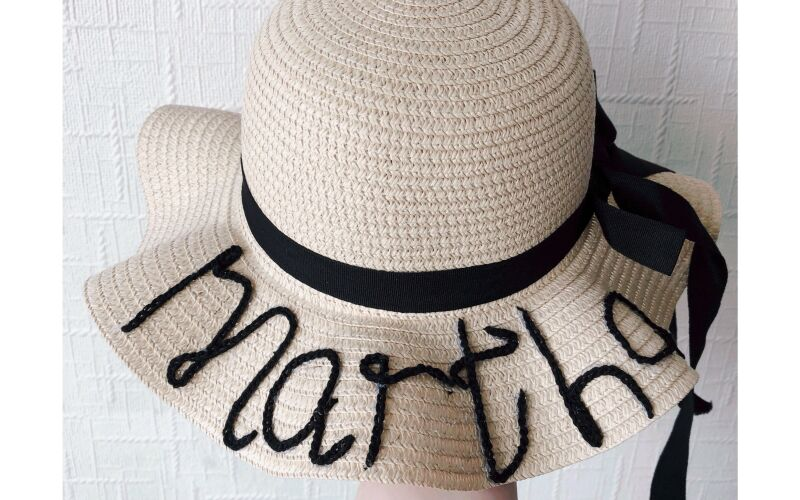 Image to for Personalised Children's Straw Hat