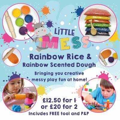Rainbow Rice and Rainbow Scented Play Dough