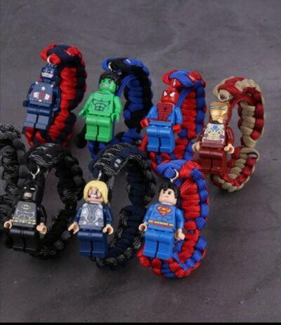 Superhero Figure Braided Bracelet