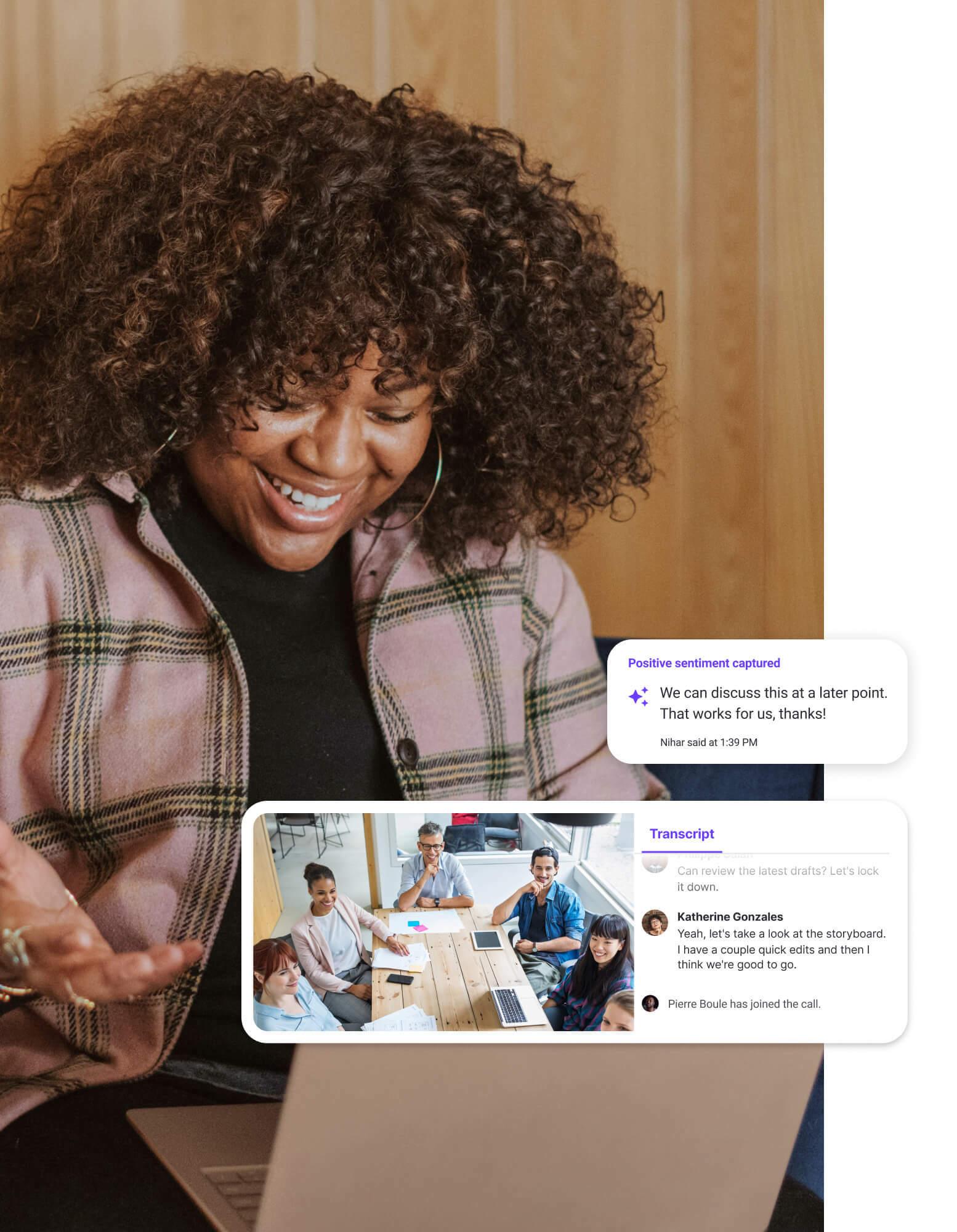 Business Comms POP postercard AI