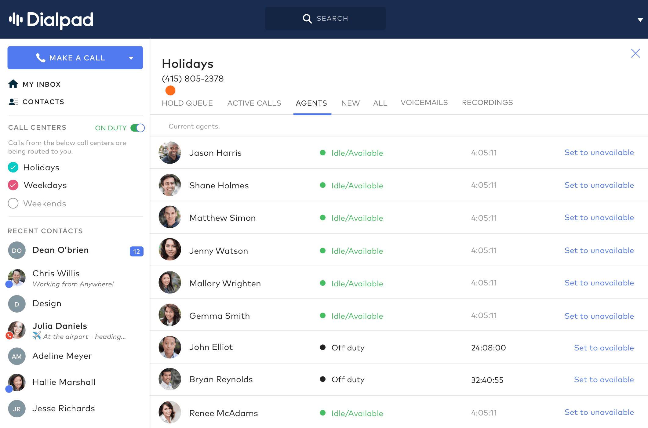 Live Agent Monitoring