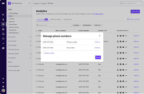 DP Manage Numbers