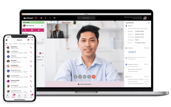 t-mobile collaborate with dialpad app