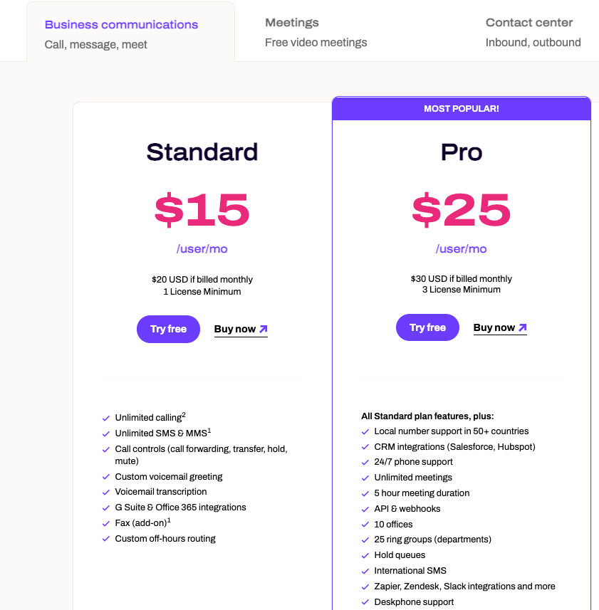 Dialpad talk pricing plans