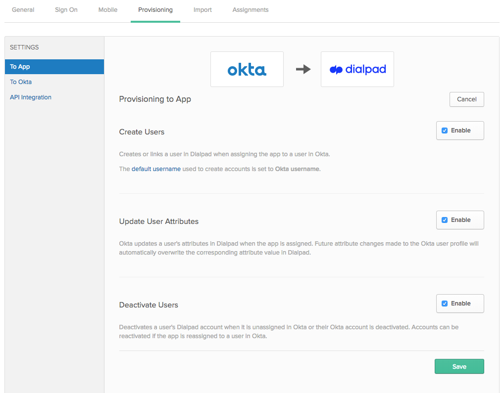 User Management Okta updated logo