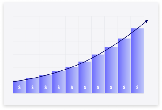 Larger profits illustration