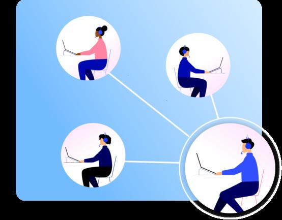 Call center conversations illustration