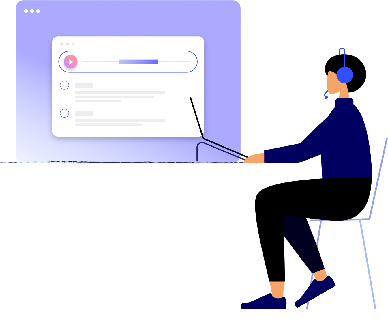 Call and screen recording hero illustration