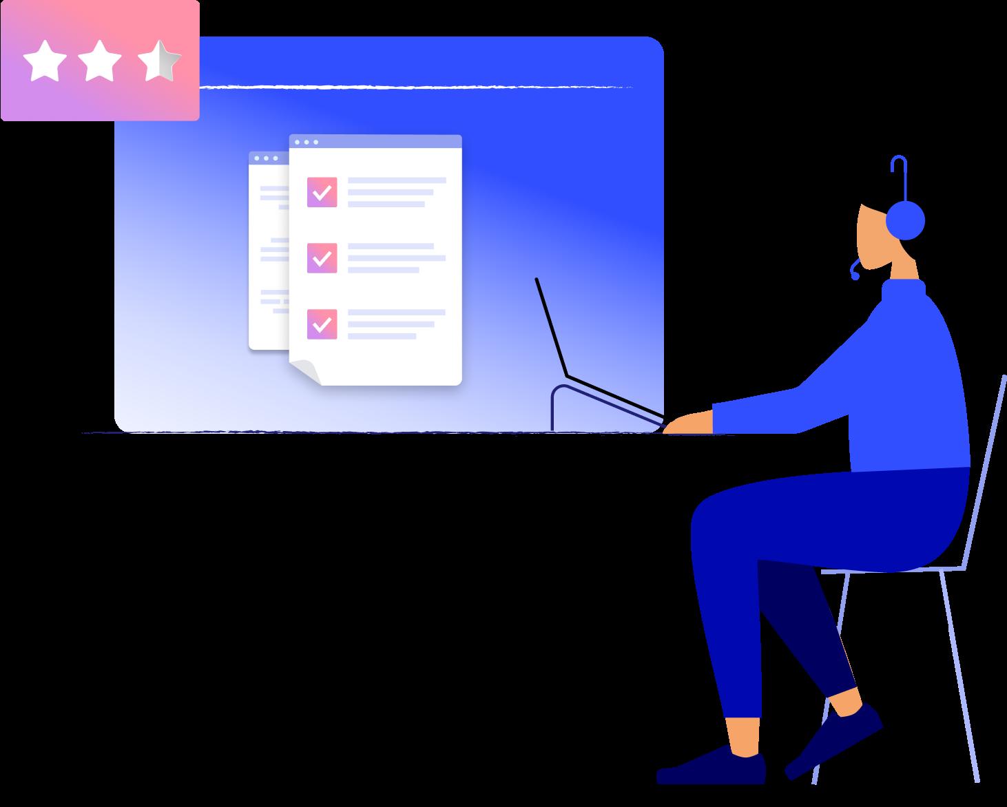 Customer satisfaction hero illustration