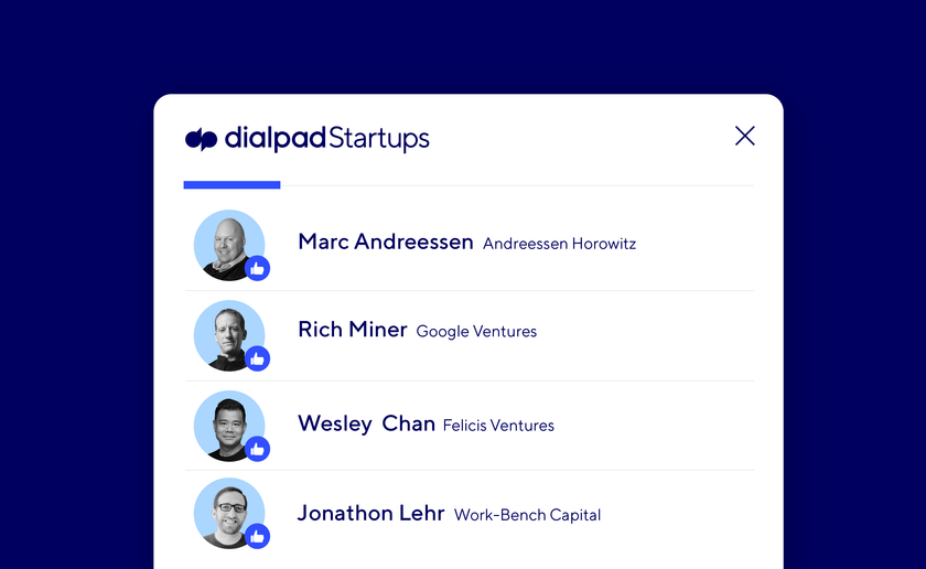 Top Investors Support Dialpad for Startups Blog Image