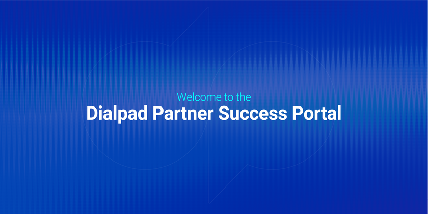 Dialpad partner success portal header image