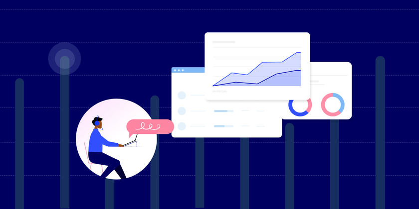 Call center metrics header