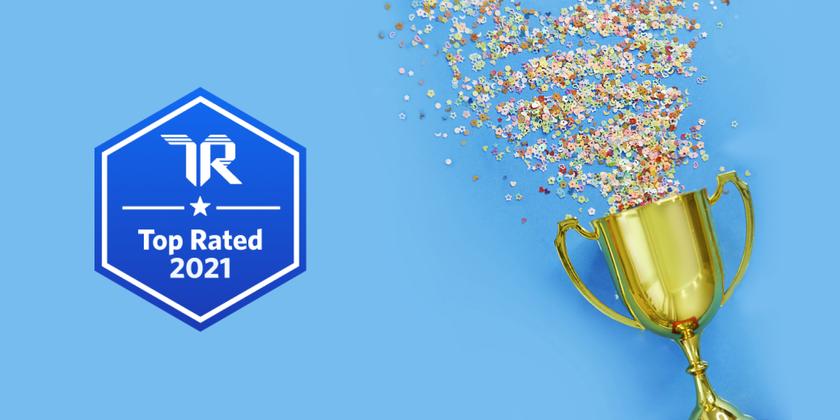 Trust Radius Top Rated header