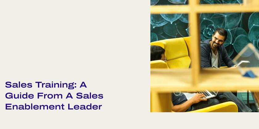 24 Sales training A guide from a sales enablement leader header