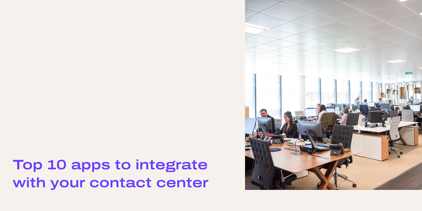 Apps for contact centers header