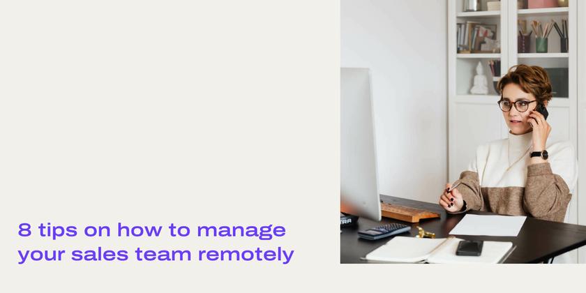 Remote sales tips header
