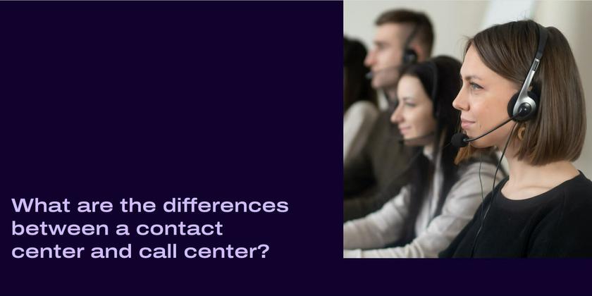 Call center vs contact center header