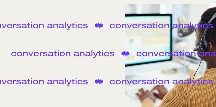 Conversation analytics header