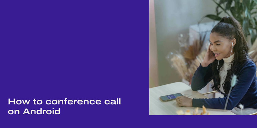 Conference call on Android header