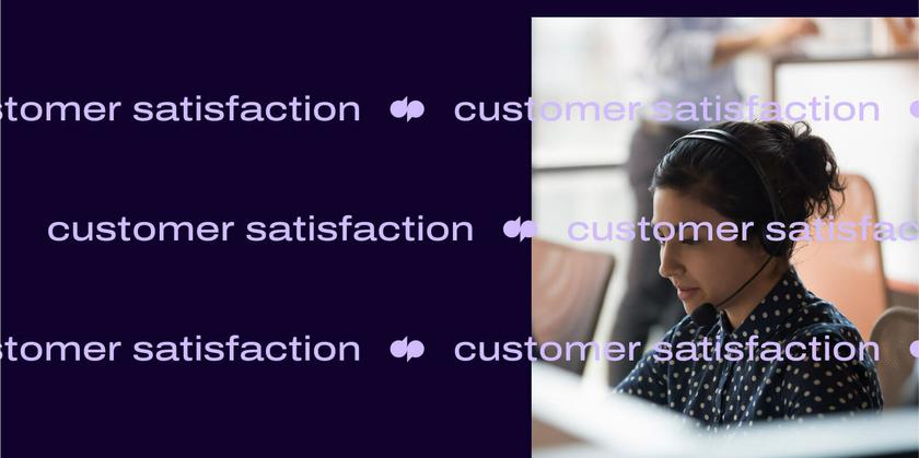Customer satisfaction metrics header