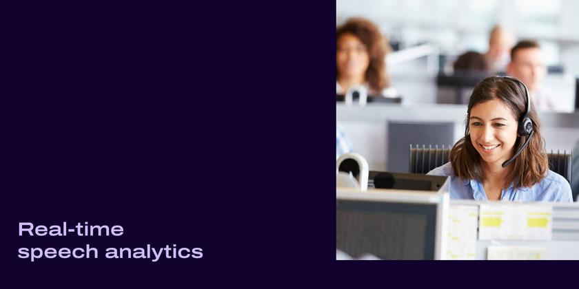 Real time speech analytics header