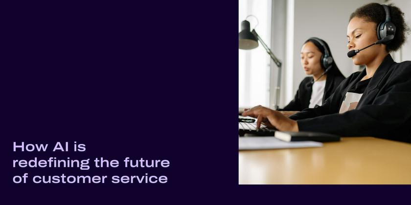 Ai customer service header