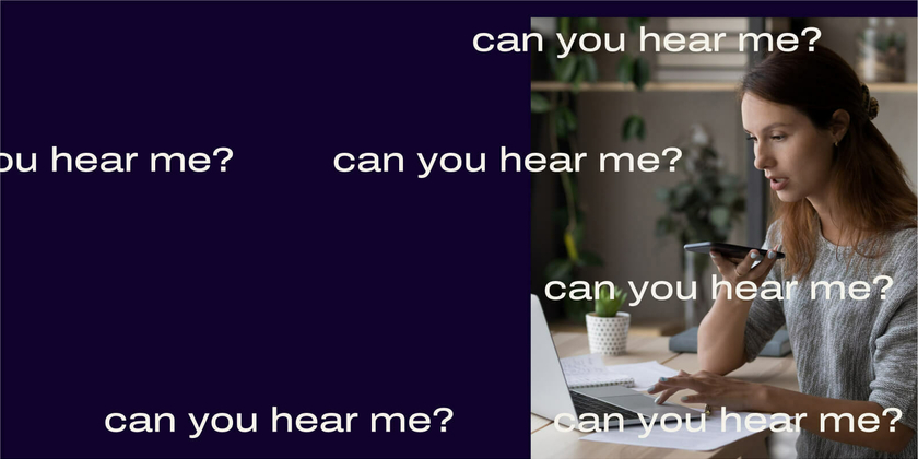 How to improve audio on conference calls header