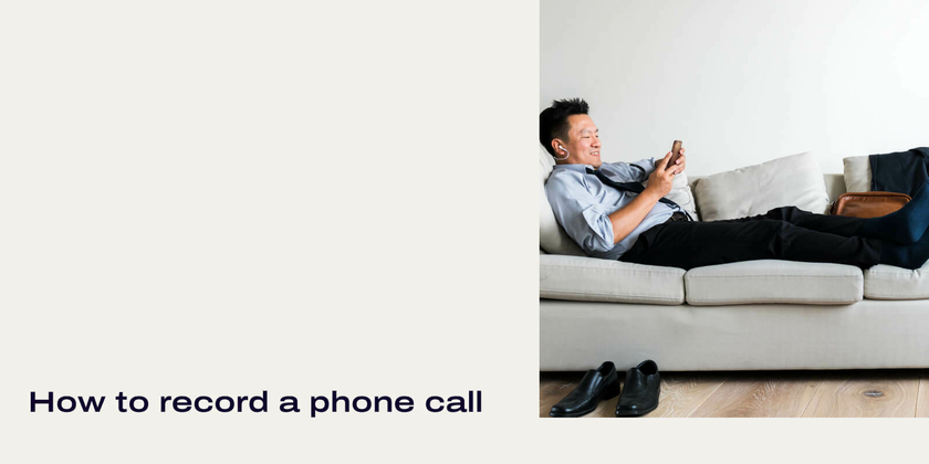 How to record a phone call header