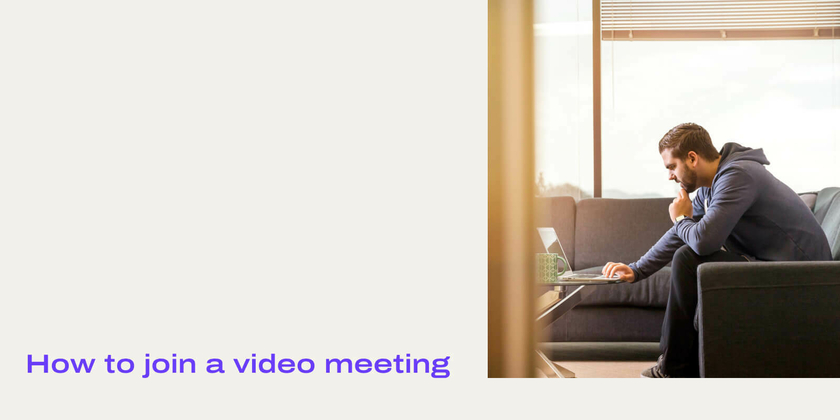 How to join video meeting header