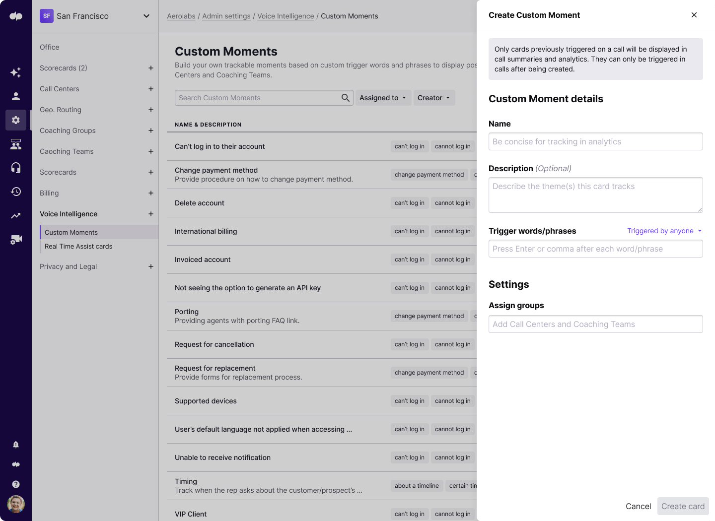 creating a custom moment in dialpad contact center