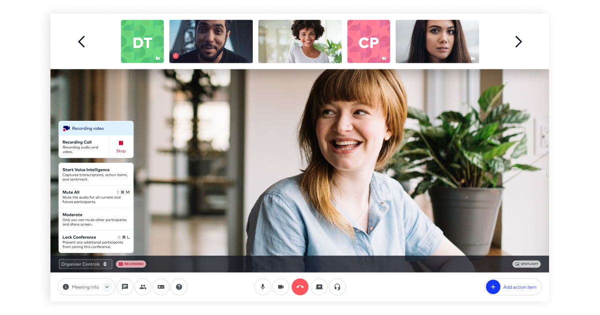 UberConference Screen Recordings with Video
