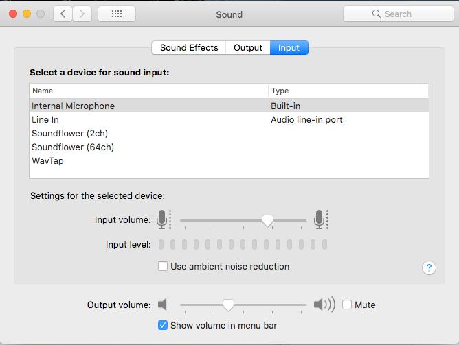 adjusting mic settings on mac os