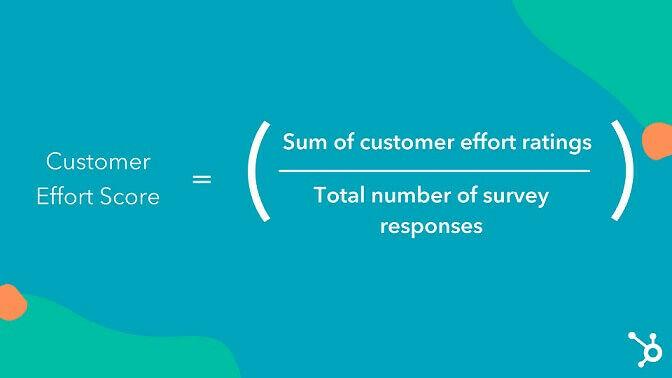 customer effort score calculation