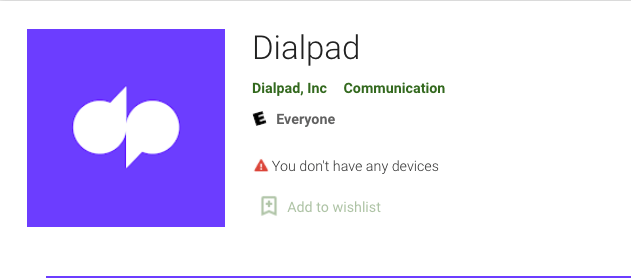 dialpad android app download on google play store