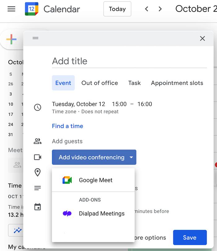 dialpad meetings google calendar integration
