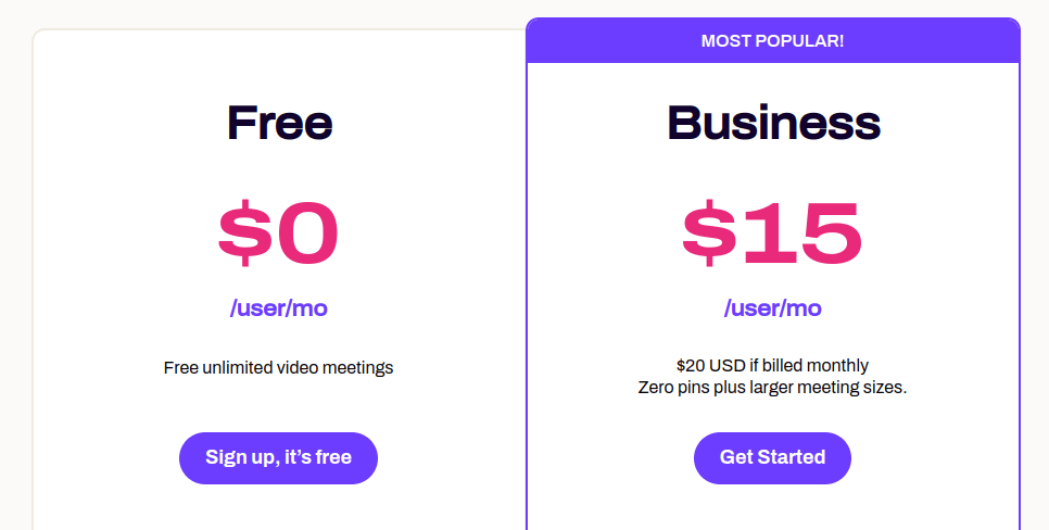 dialpad meetings plans and pricing