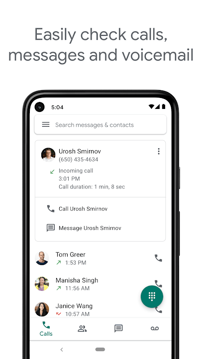 google voice for voicemail forwarding