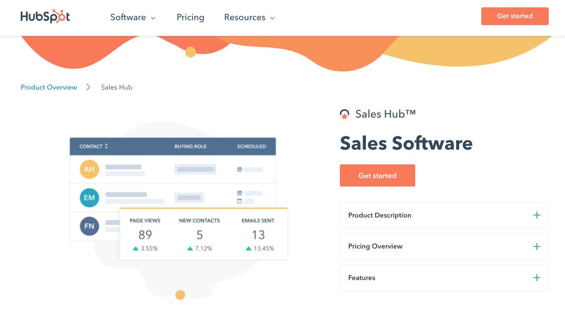 Hubspot Sales CRM Software