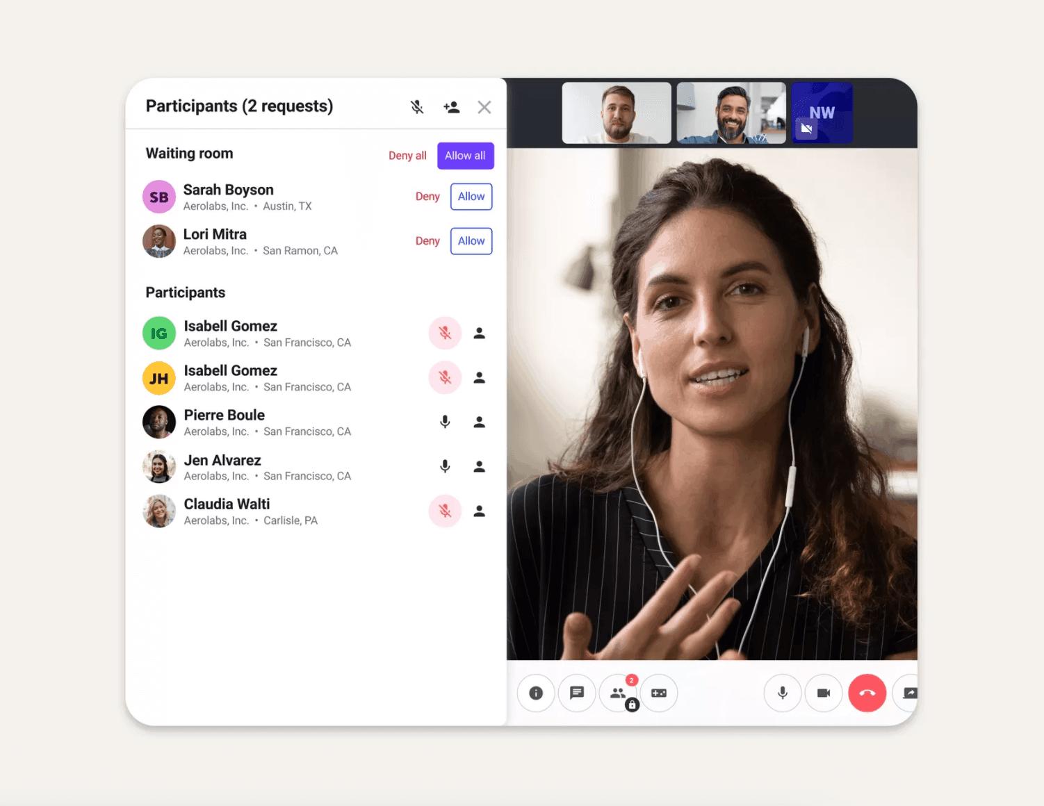 virtual meeting rooms in dialpad meetings