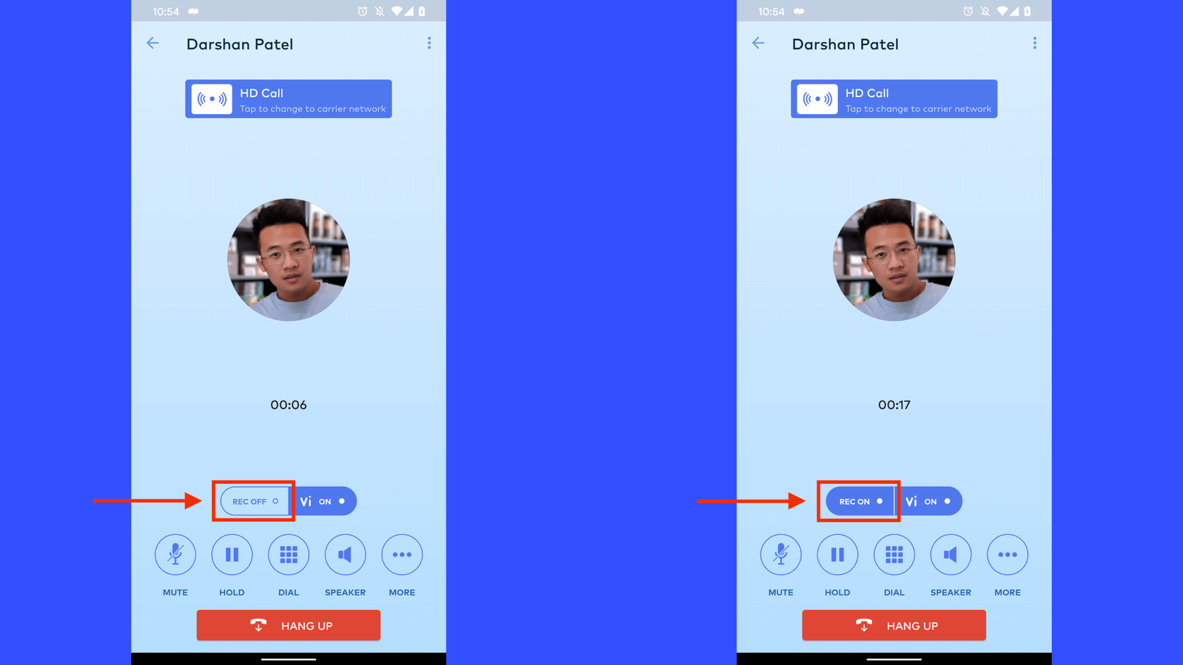 recording a call in dialpad android app