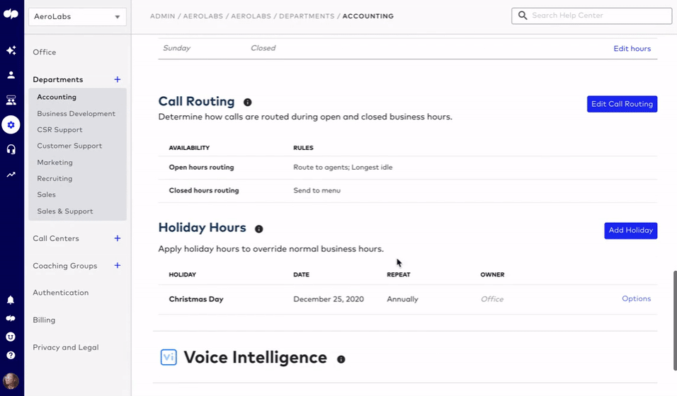 setting call routing rules in dialpad