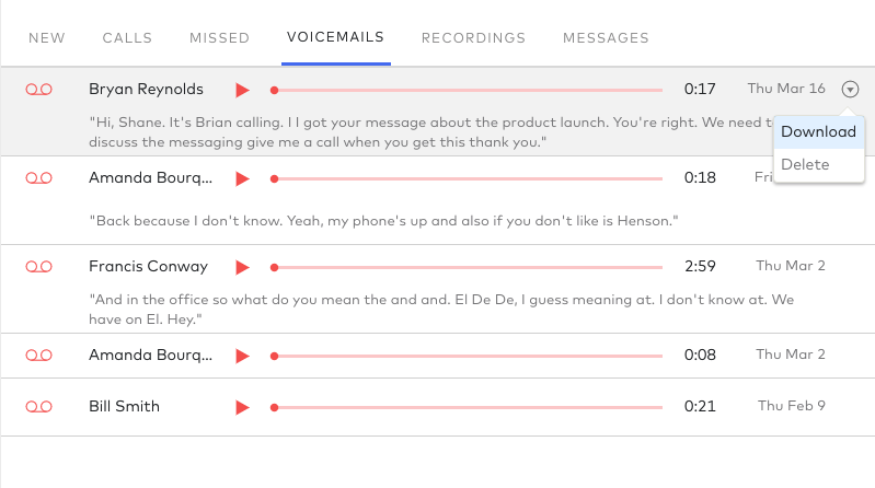 visual voicemail in dialpad