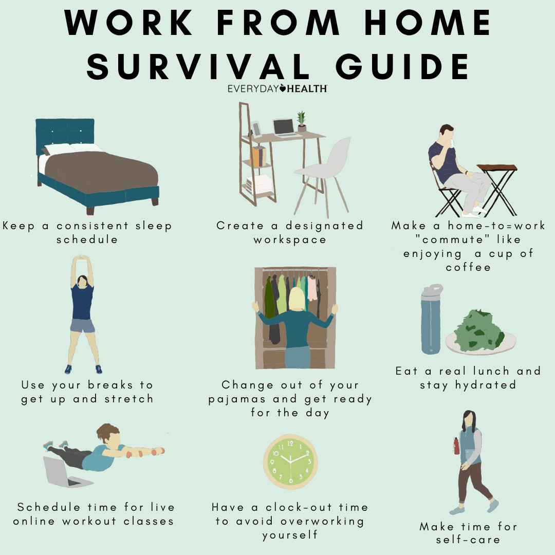 work from home survival guide infographic