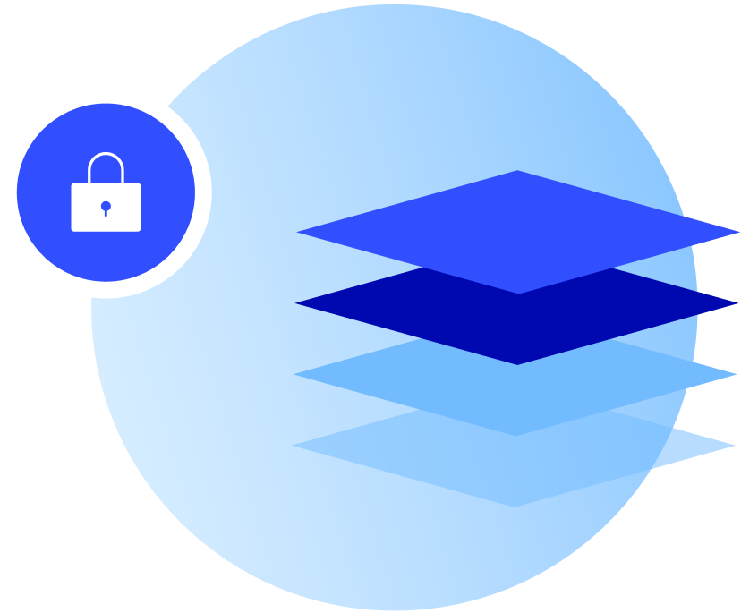 Secured data layered illustration