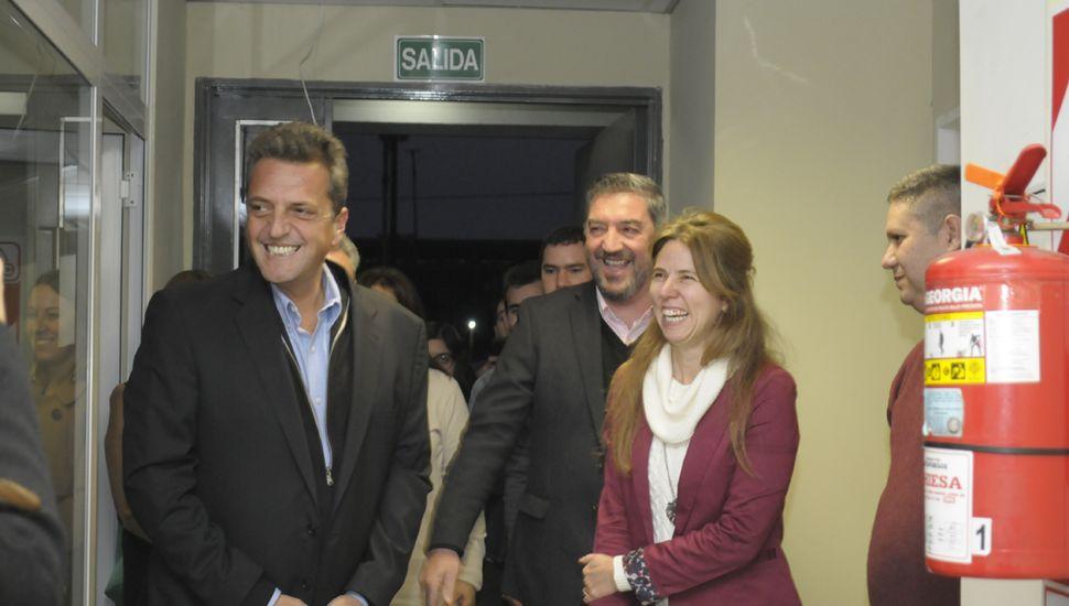 Massa visitó la Unnoba y estuvo con el rector Guillermo Tamarit.