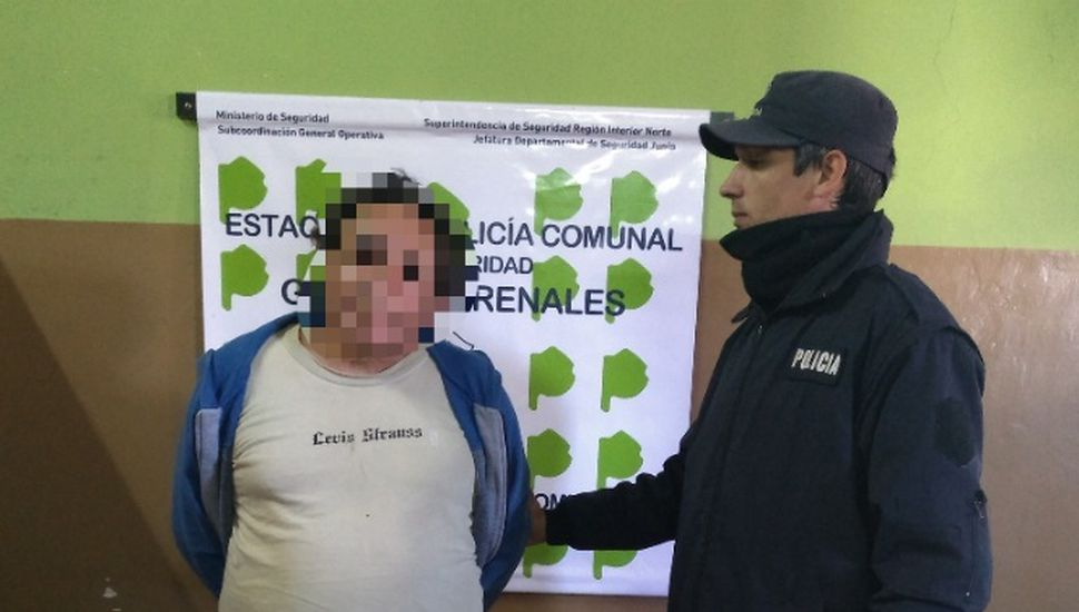 Detuvieron a un hombre de 67 años en Arenales