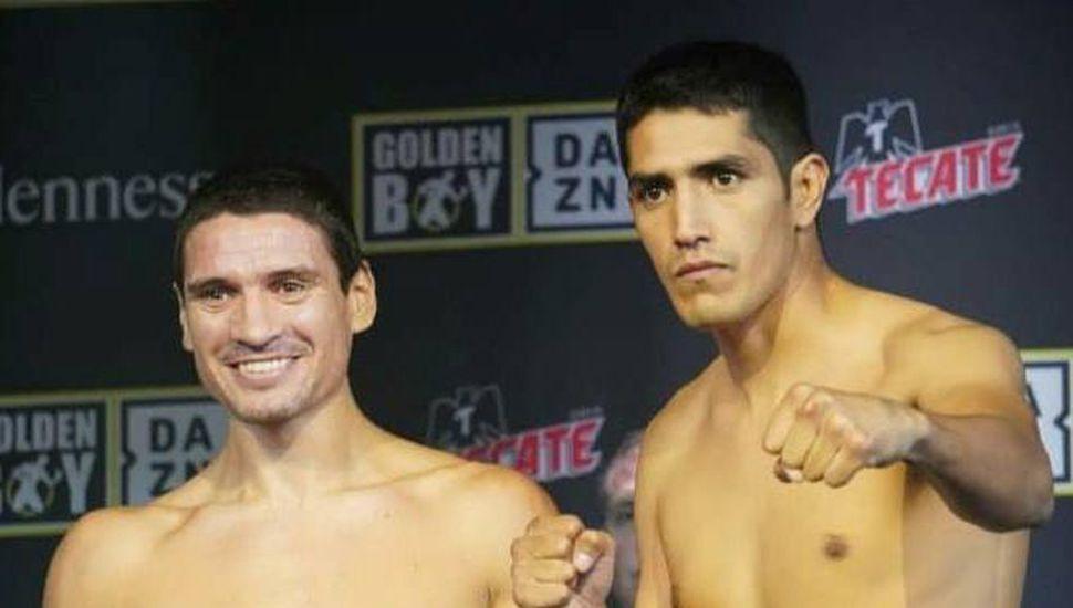 Marcelino López (izquierda) y su rival, el mexicano Daniel Echeverría.