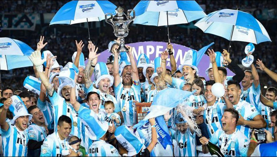 Racing, campeón en la Superliga.